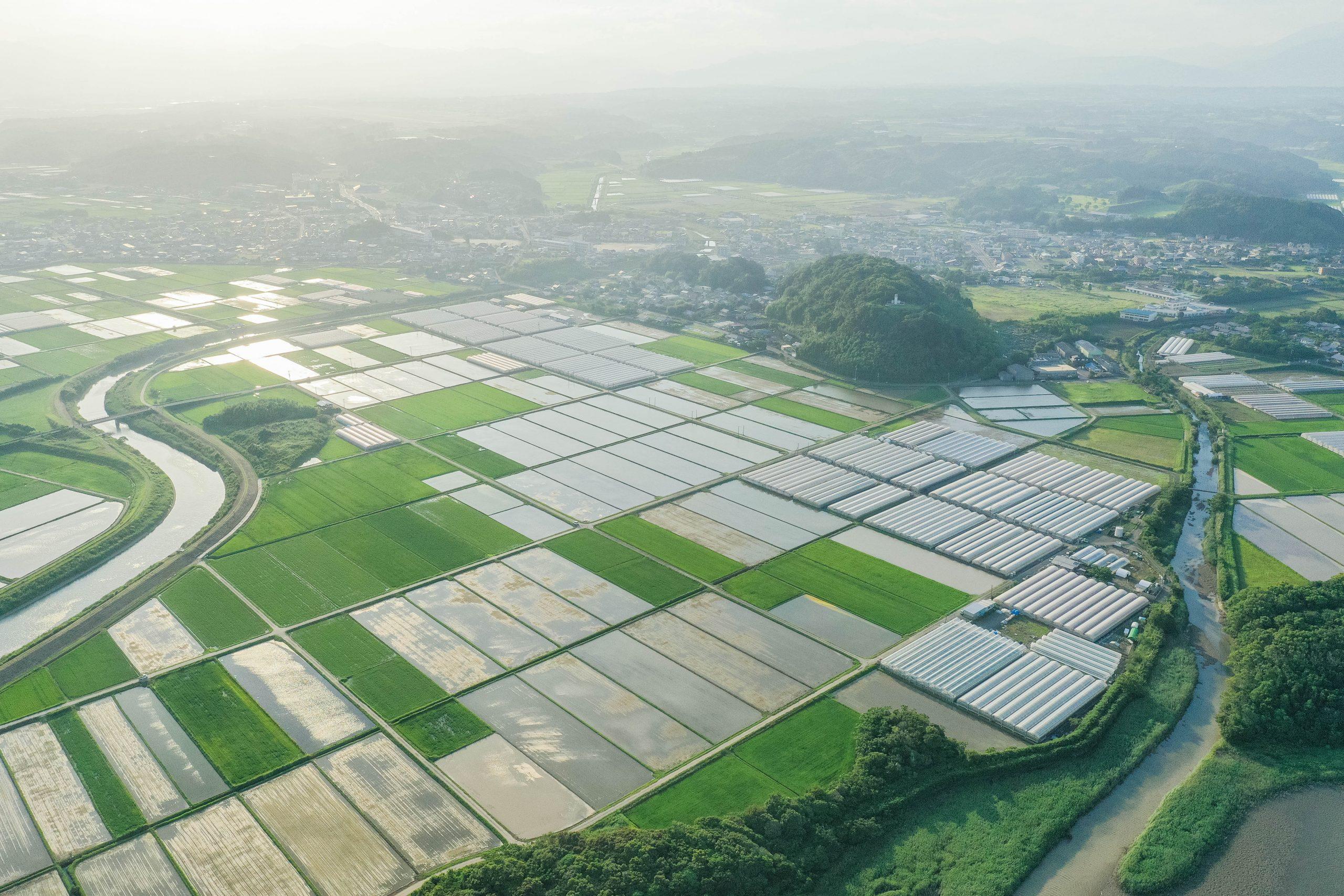 農業の町ー宮崎県新富町ードローン撮影